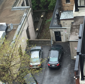 Aerial picture of a private parking spot
